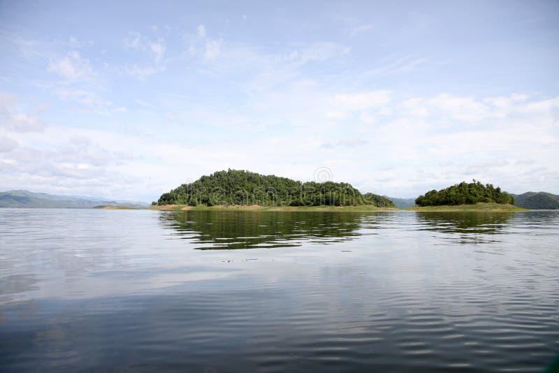 Viste del lago in Tailandia immagine stock libera da diritti