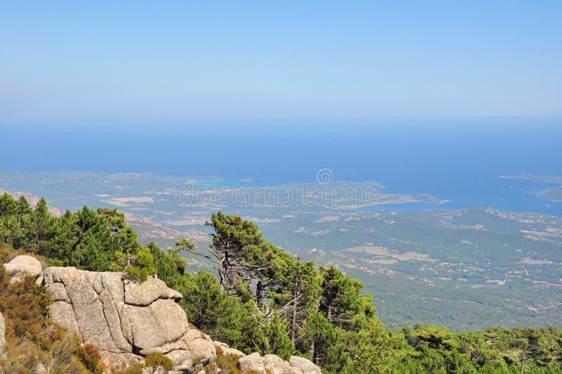 Viste del litorale Corsica fotografia stock libera da diritti