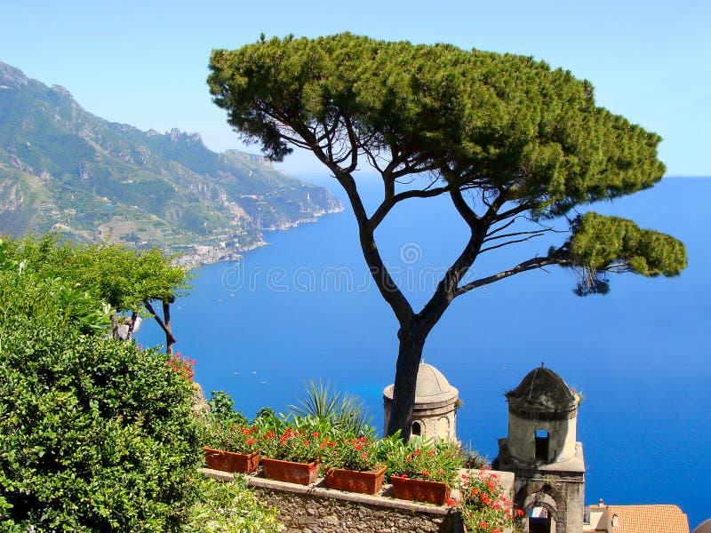 Viste del litorale di Amalfi fotografia stock