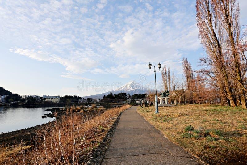 Viste del monte Fuji e del parco immagini stock libere da diritti