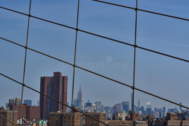Viste del ponte di NYC immagine stock