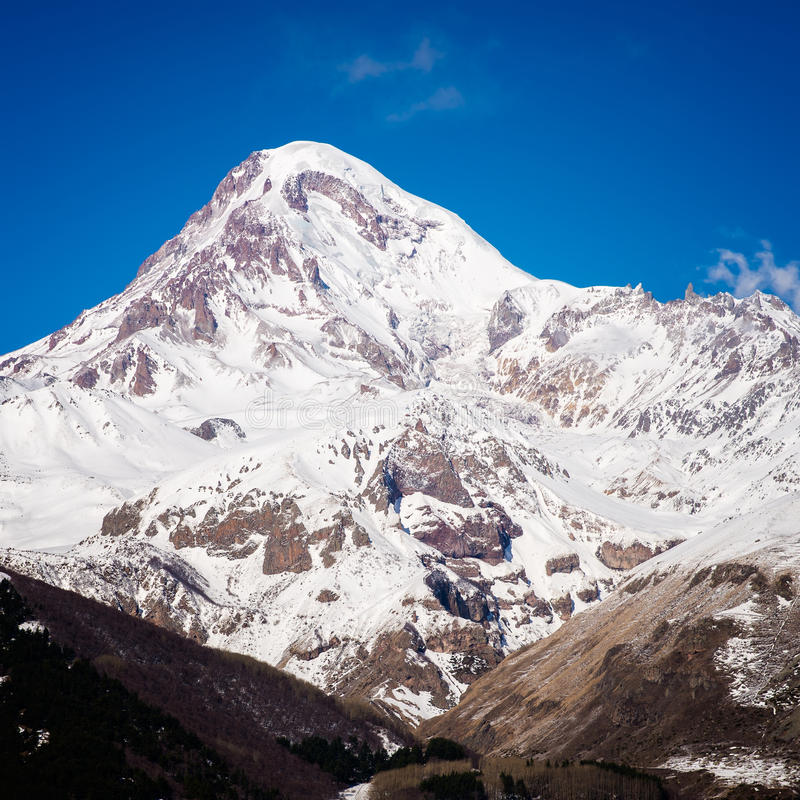 Viste del supporto Kazbek immagini stock libere da diritti