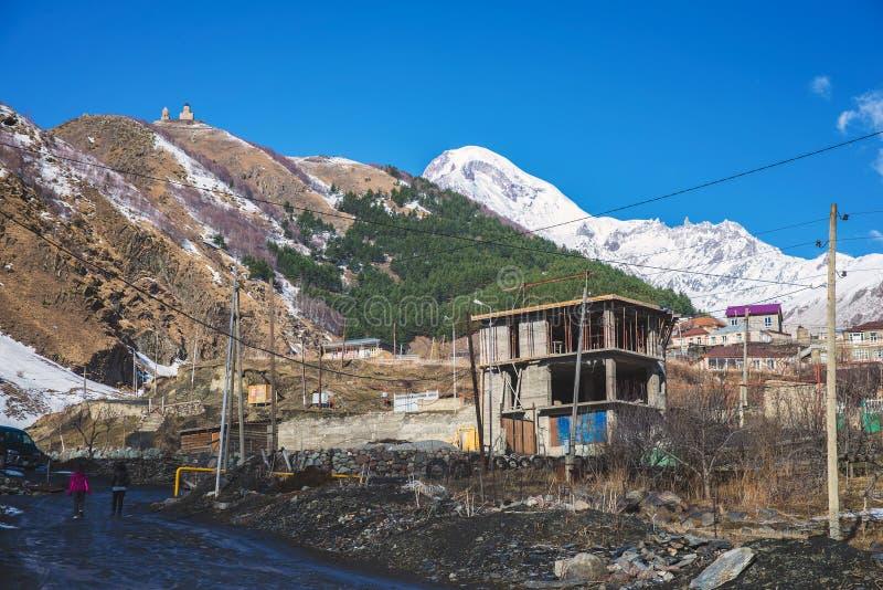Viste del supporto Kazbek immagine stock libera da diritti