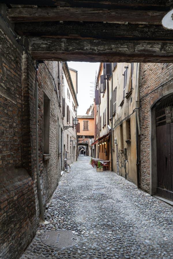 Viste del via delle-volte, una via medievale nel centro di fotografia stock libera da diritti