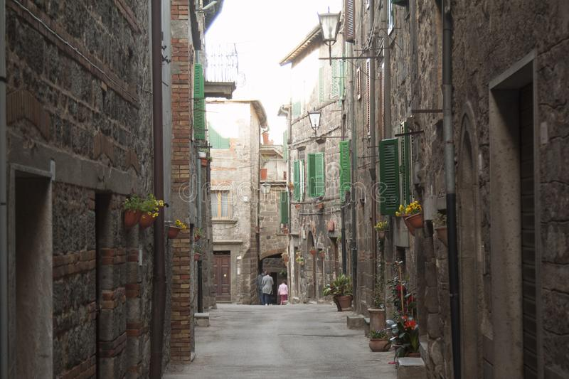 Viste del villaggio storico Santa Fiora Grosseto Italy fotografia stock