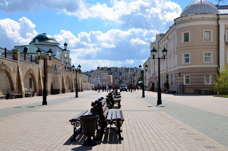 Viste della città di Kazan fotografie stock