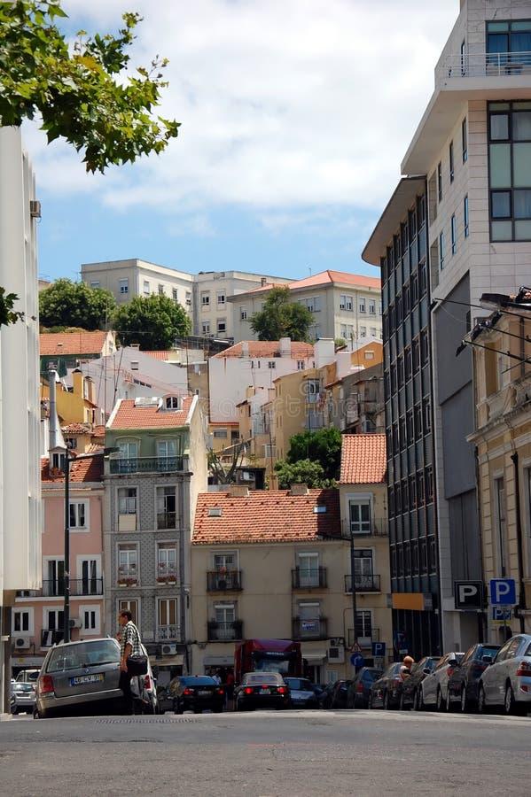 Viste della città di Lisbona fotografia stock