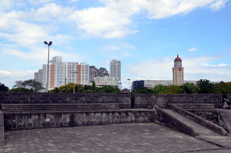 Viste della città di Manila fotografia stock libera da diritti