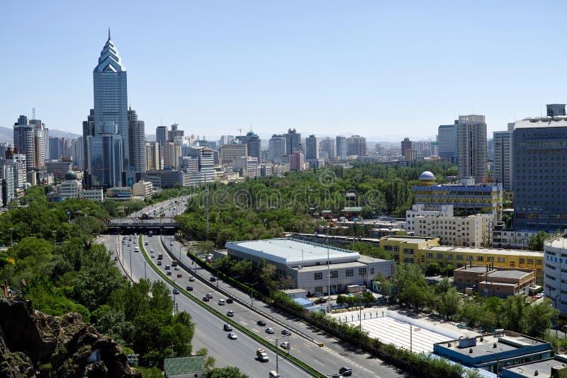 Viste della città di Urumqi fotografia stock libera da diritti