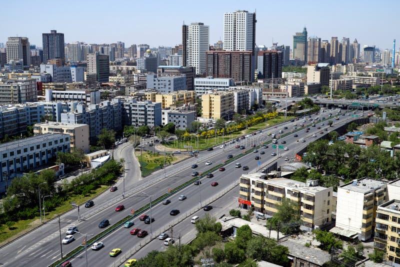 Viste della città di Urumqi fotografia stock