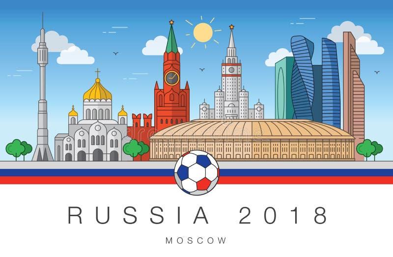 Viste della coppa del Mondo 2018 di Mosca royalty illustrazione gratis
