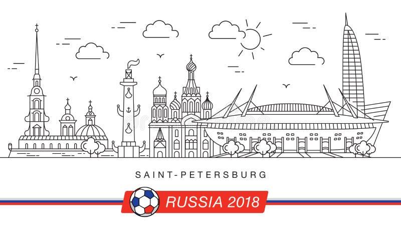 Viste della coppa del Mondo 2018 di St Petersburg royalty illustrazione gratis