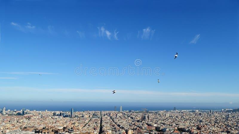 Viste di Barcellona della cima fotografia stock