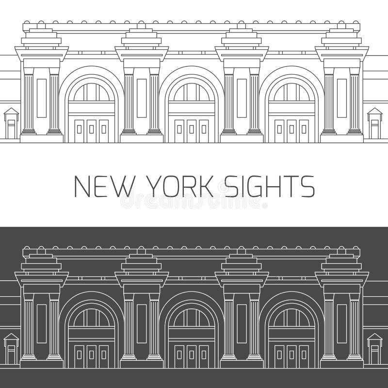 Viste di New York Museo di arte metropolitano royalty illustrazione gratis