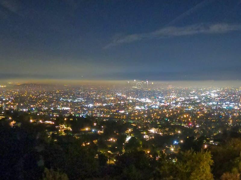 Viste di notte dall'osservatorio di Griffith immagini stock libere da diritti