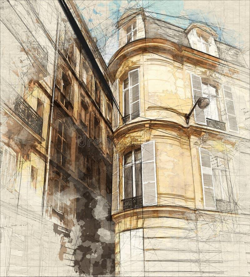 Viste di Parigi illustrazione di stock