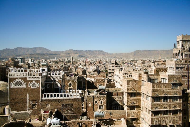 Viste di Sanaa, Yemen. immagini stock