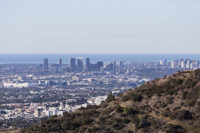 Viste pacifiche di Los Angeles immagine stock