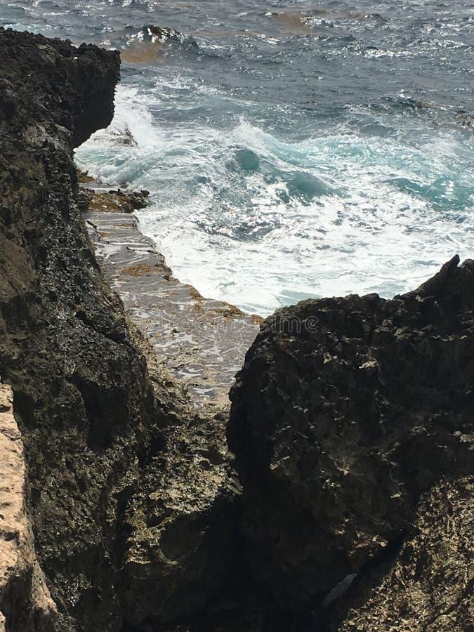 Viste sbalorditive del mar dei Caraibi fotografie stock