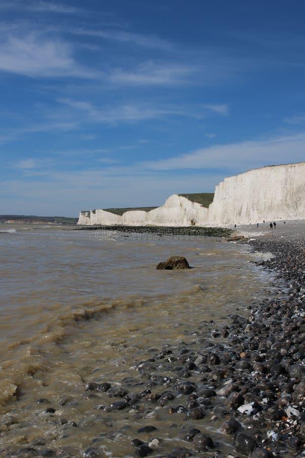 Viste sceniche delle scogliere della spiaggia fotografia stock libera da diritti
