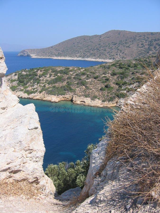 Visto da quello alto del mare e dei Greci della Turchia immagine stock libera da diritti