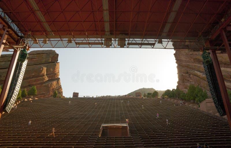 Visto dalla fase di rosso oscilla il teatro Colorado dorato di amp fotografia stock libera da diritti