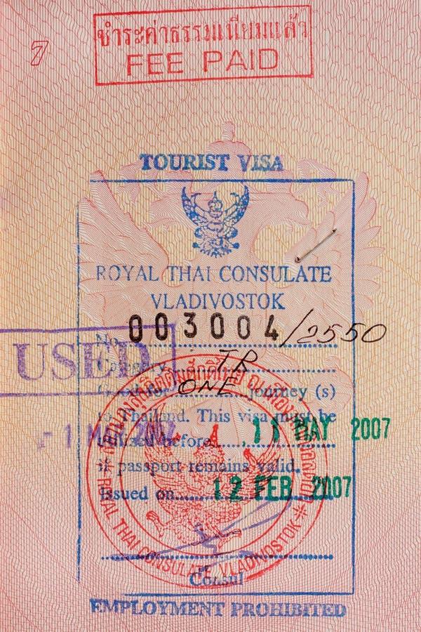 Visto de turista como um fundo fotos de stock royalty free