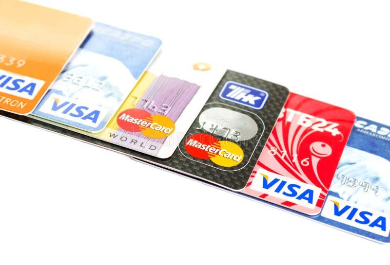Visto e MasterCard imagem de stock royalty free