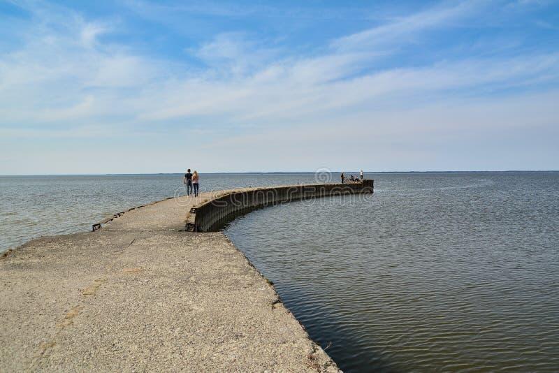 Vistula lagun - Polen royaltyfri fotografi