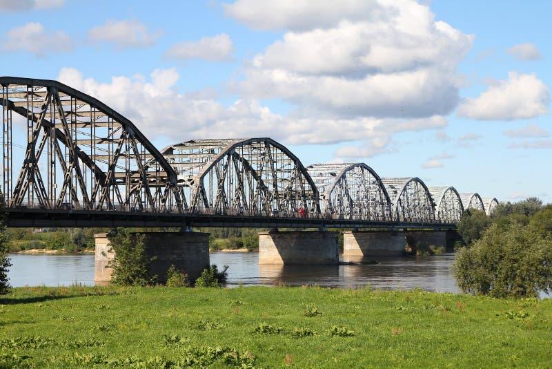 Vistula River Bridge Royalty Free Stock Image