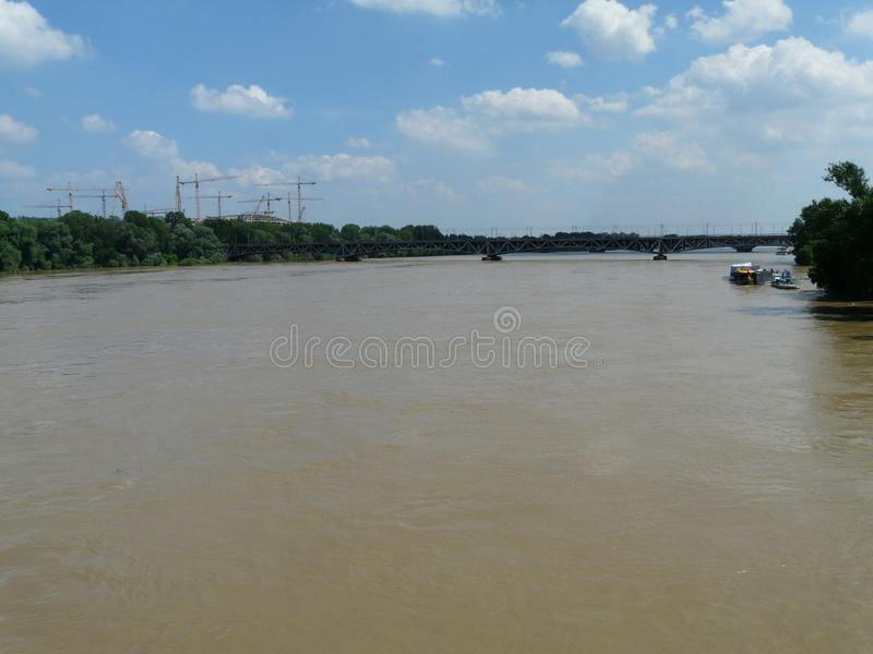 Vistula rzeka w Warszawa, Polska zdjęcia stock