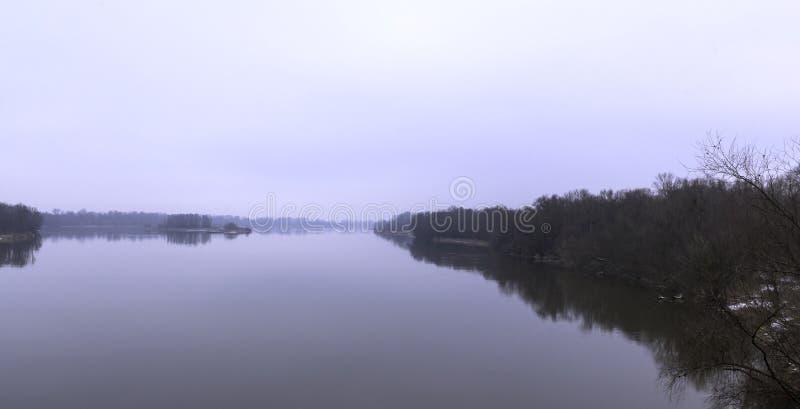Vistula rzeka w zimie - Nowy Dwor Mazowiecki zdjęcia royalty free