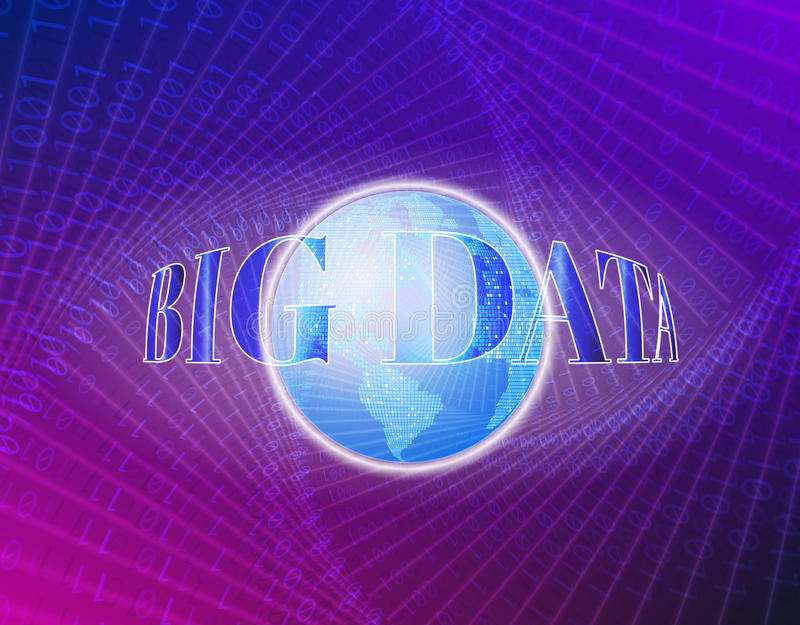 Visual концепции цифров технологический абстрактный, иллюстрация вектора Глобус мира на сини Соединения глобальной вычислительной бесплатная иллюстрация