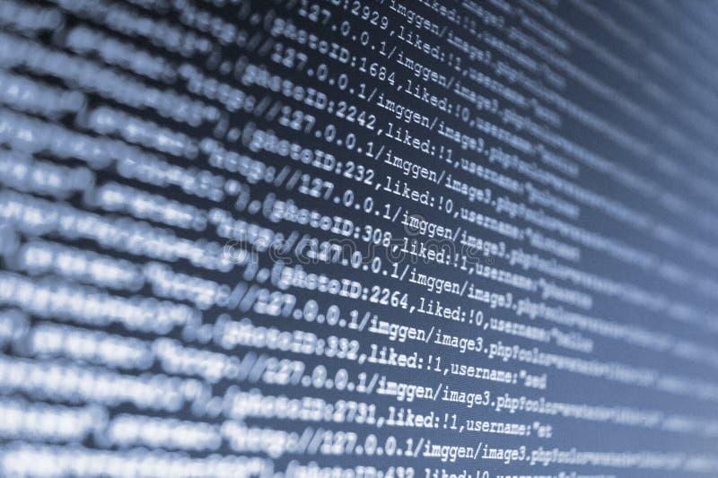Visual потока доступа битов базы данных стоковая фотография