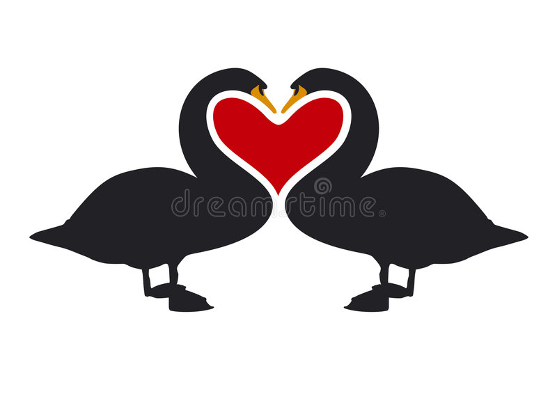 Visual Bodylanguage of Love 2 royalty free illustration