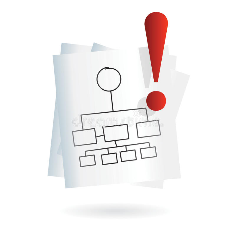 Visual map icon for business. Paper with conceptual map for business meeting, brainstorming or web site as icon or clip art royalty free illustration