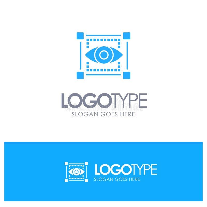 Visual, View, Sketching, Eye Blue Logo vector vector illustration