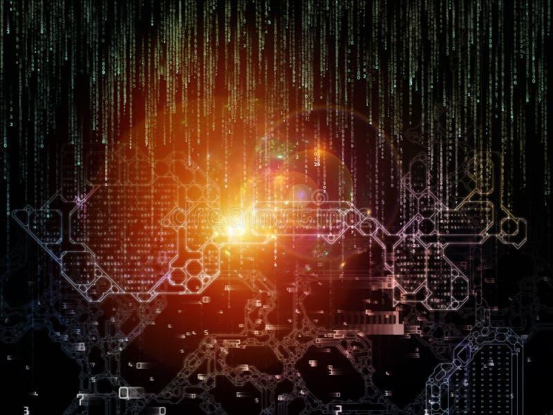 Visualisatie van Digitale Zeer belangrijke Code vector illustratie
