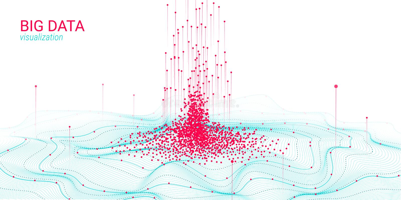 Visualisatie van golf 3D Grote Gegevens Analyse Infographic stock illustratie