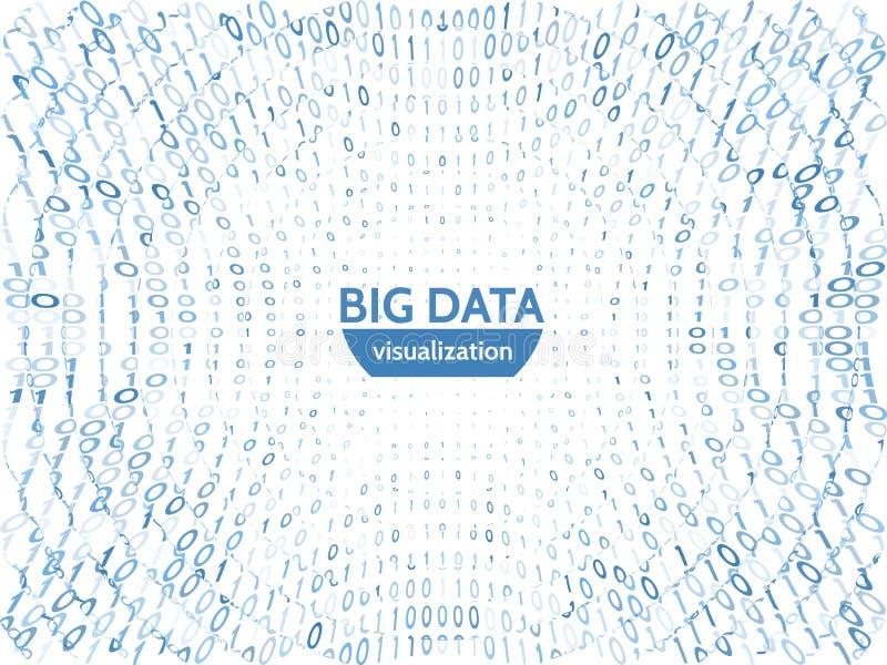 Visualisation abstraite de données commerciales Concept futuriste de transfert de l'information Complexité de données visuelle illustration stock