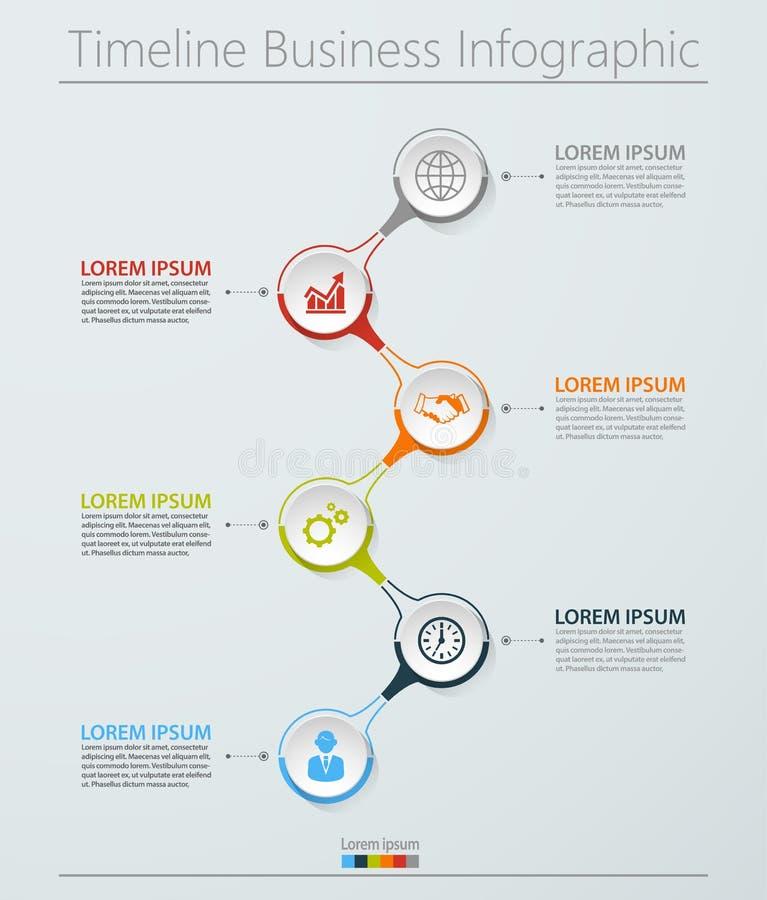Visualisation de donn?es commerciales ic?nes infographic de chronologie con?ues pour le calibre abstrait de fond photo libre de droits