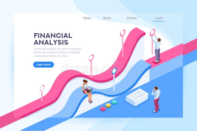 Visualisation de finances et base de données d'analyse illustration stock