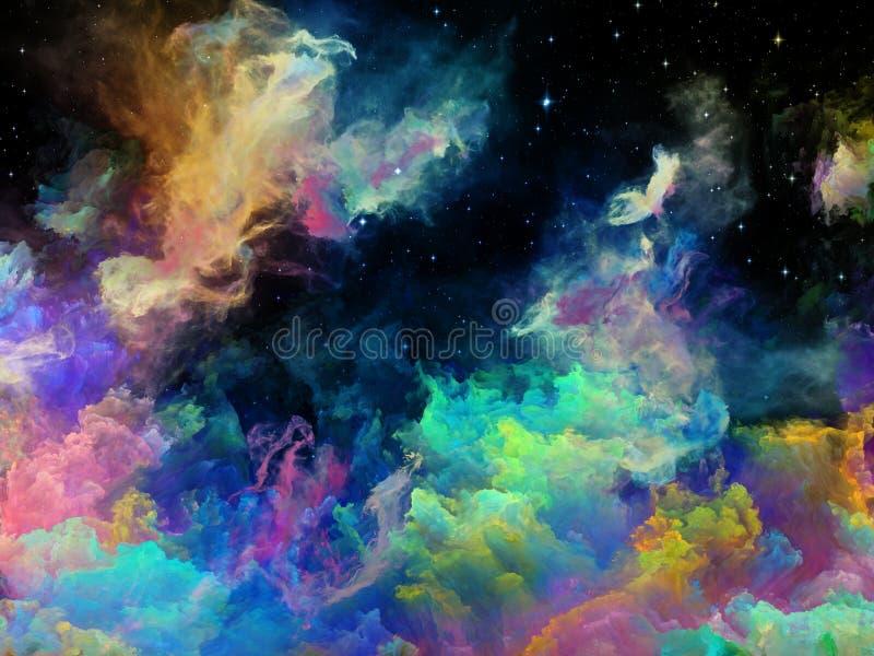 Visualisation de nébuleuse de l'espace illustration de vecteur