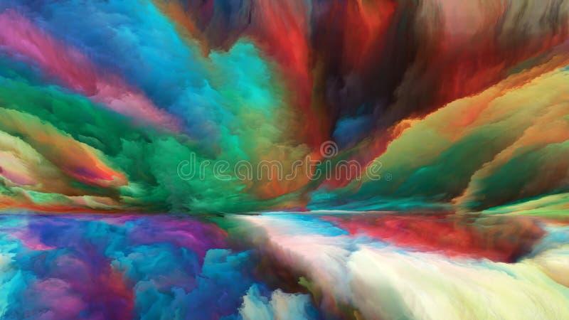 Visualisation de paysage abstrait illustration de vecteur