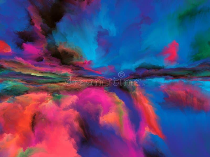Visualisation de paysage abstrait illustration libre de droits
