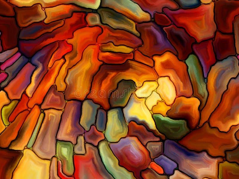 Visualisation de verre souillé de Digital illustration libre de droits
