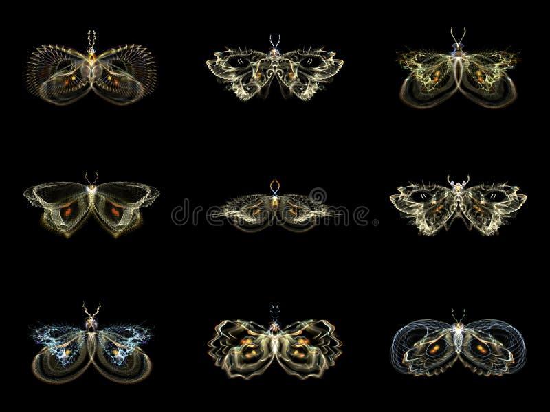 Visualisation des papillons de fractale illustration de vecteur