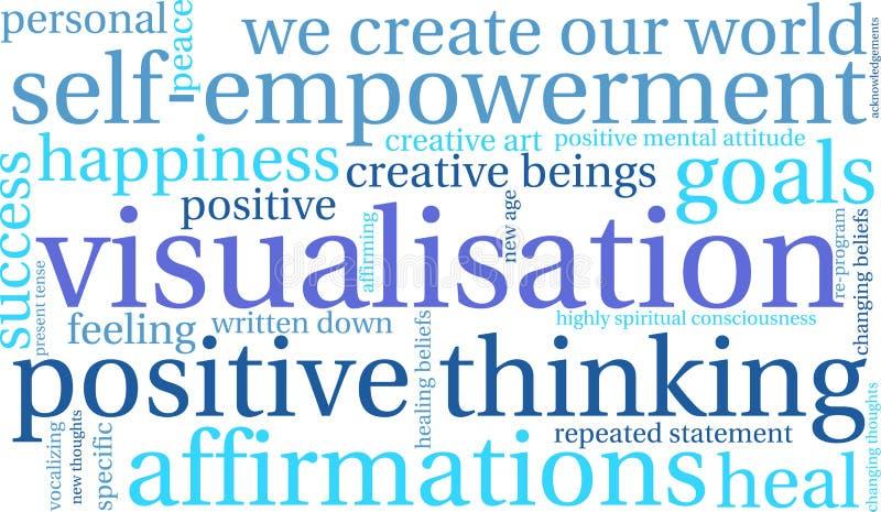 Visualisation Word Cloud stock illustration