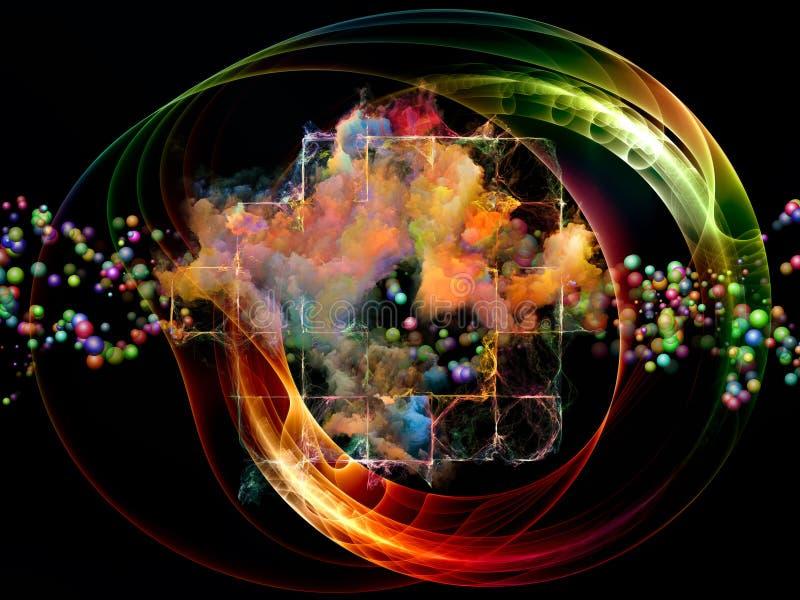 Visualização abstrato vibrante foto de stock