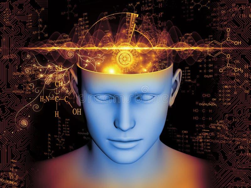 Visualização da mente ilustração do vetor